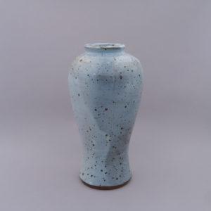 DE GROOT Sébastien - Vase Meiping bleu Chun pyrite