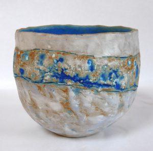 ROUEIRE-MURATET Annie - Bol grès et décor porcelaine