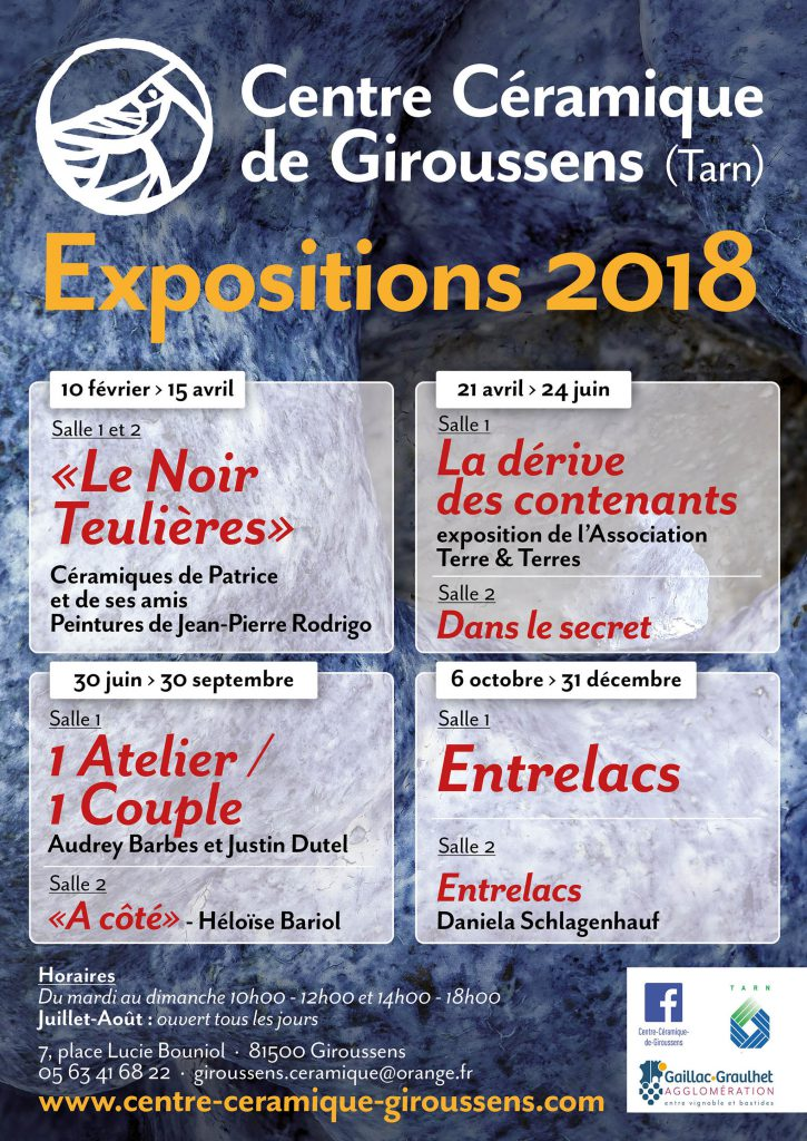 Affiche CCCG : expositions 2018