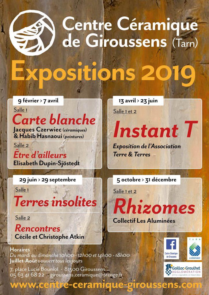 Affiche CCCG : expositions 2019
