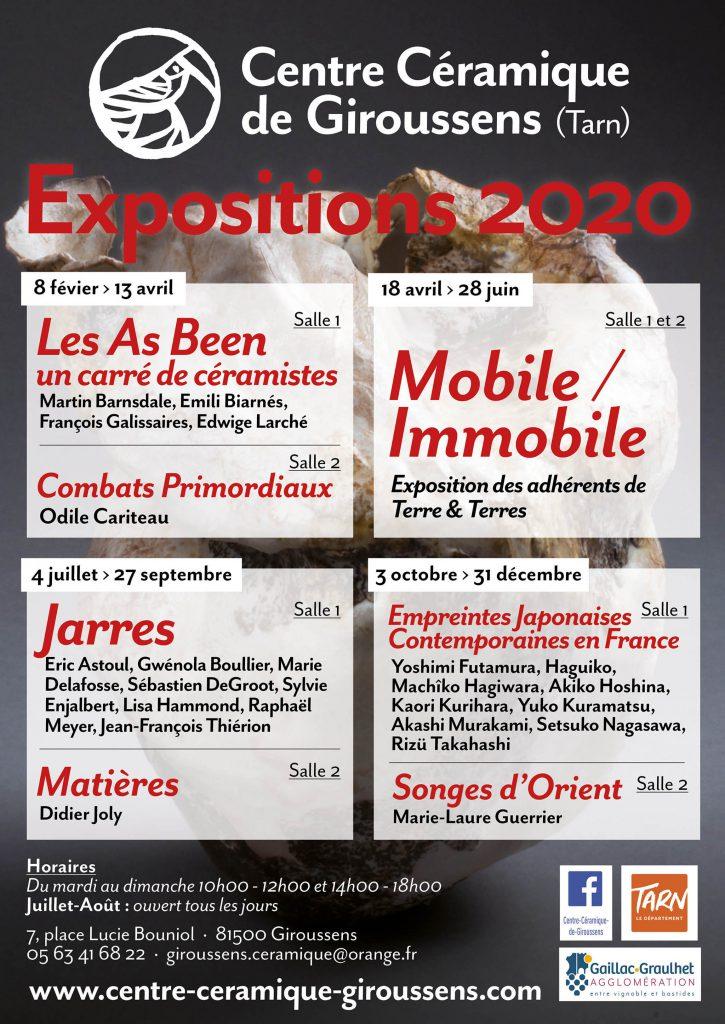 Affiche CCCG : expositions 2020